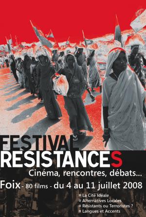Affiche festival résistances 2008